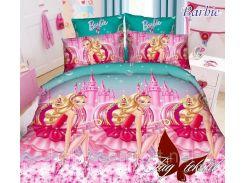 Полуторный комплект постельного белья для девочки Barbie