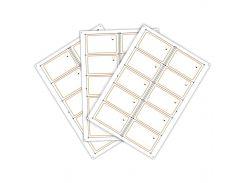 Сырье, инлей для производства rfid-карт GEN 2 (10 чипов на листе формата A4)