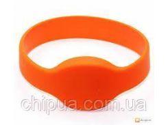 Набор 100 шт. Оранжевые силиконовые rfid браслеты с чипом Em-Marine 125 kHz ЕМ4100 совместимые