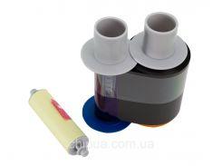 Риббон (цветная лента) с полимерной черной панелью  для принтера HDP5000 84051 YMCK ribbon