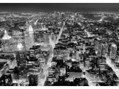 Фотообои 141 Чёрно-белий Нью-Йорк 366*254 (8ч)
