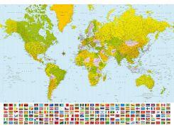 Фотообои 280 Карта мира 366*254 (8ч)