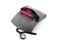 Клатч с кожаным ремешком Digital Wool серый Premium (DW-60-01)