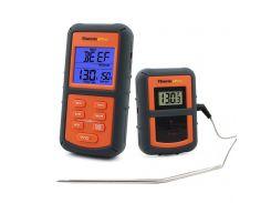 Беспроводной термометр ThermoPro TP-07 в прорезиненном корпусе Серый с оранжевым (mdr_0113)