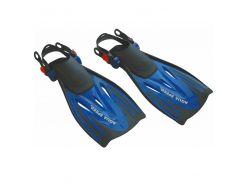 Ласты для плавания Aqua Speed Wombat Kid 27-31 Черно-синие (aqs011)