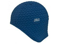 Шапочка для плавания Aqua Speed Bombastic Tic-Tac Синяя (as006)