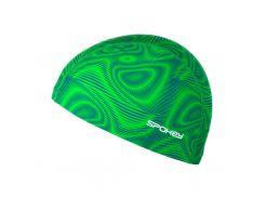 Шапочка для плавания Spokey Trace Зеленая (s0352)