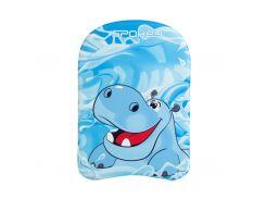 Доска для плавания Spokey HIPPO 29x41x3 см детская Голубой (s0393)