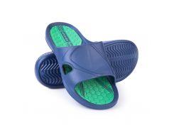 Шлепанцы пляжные мужские Spokey Orbit 44 Темно-синие с зеленым (s0079)