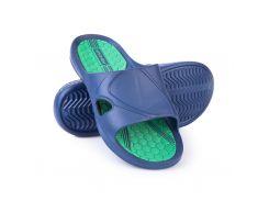 Шлепанцы пляжные мужские Spokey Orbit 43 Темно-синие с зеленым (s0078)