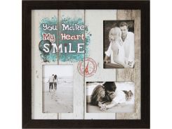 "Фоторамка коллаж ""You make my heart smile"" 38х38 см (M3-153)"