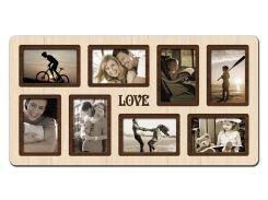 """Фоторамка коллаж """"Love"""" 65х34 см (H8-007B)"""