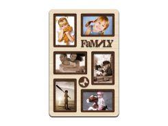 """Фоторамка коллаж """"Family"""" 51х33 см (H6-025B)"""