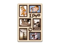 """Фоторамка коллаж """"Love"""" 51х33 см (H6-019B)"""