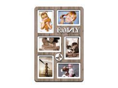 "Фоторамка коллаж ""Family"" 51х33 см (H6-028C)"