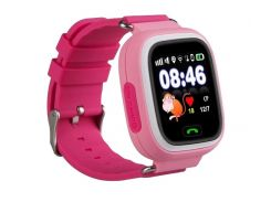 Детские часы-телефон с GPS WONLEX Q90S Pink