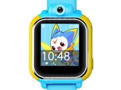 Детские часы-телефон с GPS WONLEX Q200S Blue