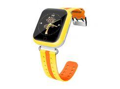 Детские часы-телефон с GPS WONLEX Q100S Orange