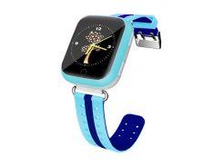 Детские часы-телефон с GPS WONLEX Q100S Blue