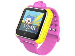 Детские часы-телефон с GPS WONLEX Q200S Pink