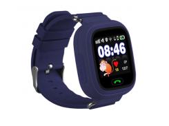 Детские часы-телефон с GPS WONLEX Q90S Darkblue