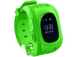 Детские часы-телефон с GPS WONLEX Q50 Green