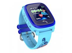 Детские часы-телефон с GPS WONLEX Q300 Aqua Blue