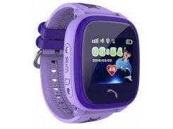 Водонепроницаемые часы Smart Baby Watch Aqua DF25-PLUS Фиолетовые (hub_Zgky32858)