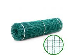 Сетка декоративная Клевер - 1,0 x 20 м (10 x 10 мм) Темно-зеленый (Д-10/1,0/20тз)