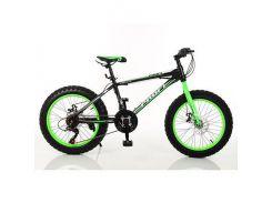 """Велосипед 20"""" Profi 1.0 S20.2 Черно-салатовый (int1.0 S20.2)"""