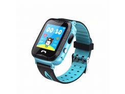 Водонепроницаемые часы с GPS Smart Baby Watch Aqua IQ600-PLUS Голубой (DtBW97695)