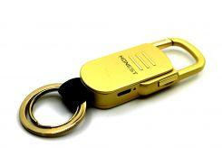 Электроимпульсная USB зажигалка-брелок Золотистый (200488)
