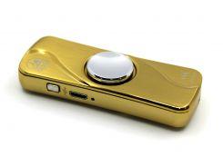 Электроимпульсная USB зажигалка-спиннер с подсветкой Золотистый (200491)