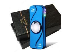Электроимпульсная USB зажигалка-спиннер с подсветкой Синий (200493)