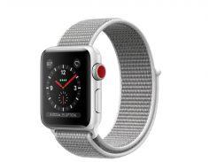 Apple Watch Series 3 GPS + Cellular 38mm Silver Aluminum with Seashell Sport Loop (MQJR2)