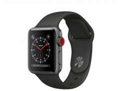 Apple Watch Series 3 GPS + Cellular 42mm Space Gray Aluminum with Gray Sport Band (MR2X2)