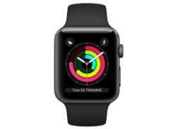 Apple Watch Series 3 (GPS) 38mm Space Gray Aluminum w. Gray Sport B. - Space Gray (MR352)