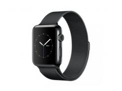Apple Watch Series 2 42mm Space Black Stainless Steel Case with Space Black Milanese Loop Band (MNQ12)