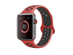 Ремешок Fitness для Apple Watch Series 4 Sport 42 mm Red Black (436523)
