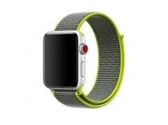 Ремешок New Generation для Apple Watch Series 3 Sport Loop 42 mm Flash Light Green (100834)