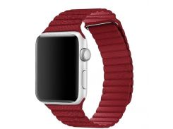 Ремешок Blimey для Apple Watch Series 4 Leather Loop 44 mm Red (894564)