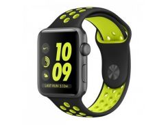 Ремешок New Generation для Apple Watch Series 2 Sport 42 mm Black Green (564411)