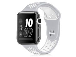 Ремешок Fitness для Apple Watch Series 3 Sport 42 mm Silver White (321644)