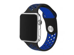 Ремешок Fitness для Apple Watch Series 4 Sport 44 mm Black Blue (864651)
