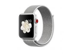Ремешок New Generation для Apple Watch Series 3 Sport Loop 42 mm Seashell Grey (100411)