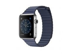 Ремешок New Generation для Apple Watch Series 4 Leather Loop 44 mm Blue (212358)