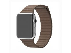 Ремешок Fitness для Apple Watch Series 1 Leather Loop 42 mm Chocolate Brown (585443)