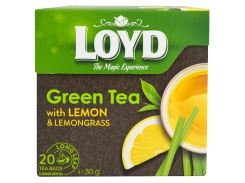 Чай зеленый пакетированный Loyd лимон и лемонграсс 20 x 1.5 г (26.056)