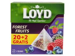Чай фруктовый пакетированный Loyd Forest Fruits 22 х 2 г (26.051)