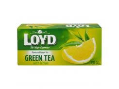 Чай зеленый с лимоном пакетированный Loyd 20 x 1.5 г (26.060)